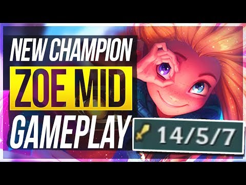 ZOE IS SO BROKEN! Q ONE-SHOTS! Zoe Mid Gameplay - League of Legends