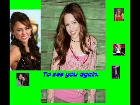Miley Cyrus See you again with lyrics