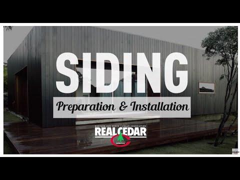 Siding Preparation and Installation - RealCedar.com