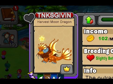 How to breed a Harvest Moon dragon in DragonVale