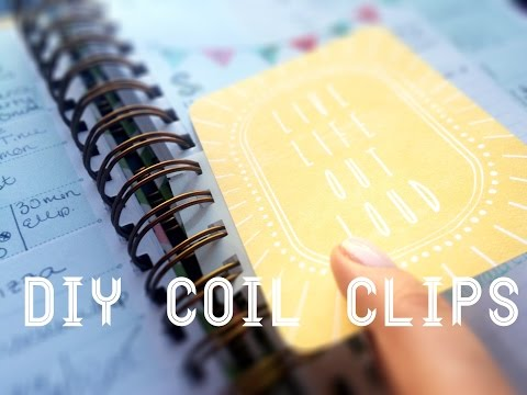DIY Coil Clips || For Your Spiral-Bound Planner