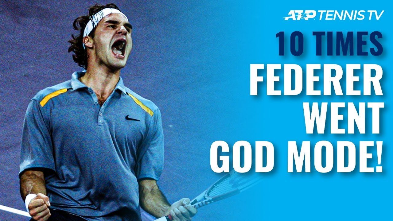 10 Times Roger Federer Went GOD MODE! 🔥