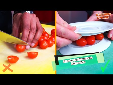 How to Cut Tomatoes Like a PRO - Fastest Way!