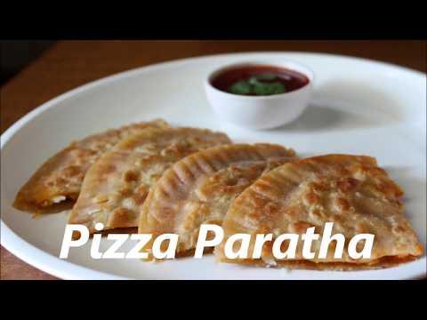 pizza paratha/kids tiffin box  recipe by Raks HomeKitchen