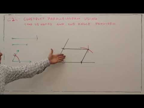 C22--Construct a Parallelogram with Two Lengths and One Angle