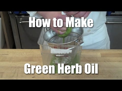 How to Make Basil (Herb) Oil | Recipe + Technique