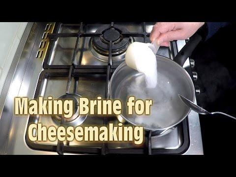 Making Brine for Cheese Making