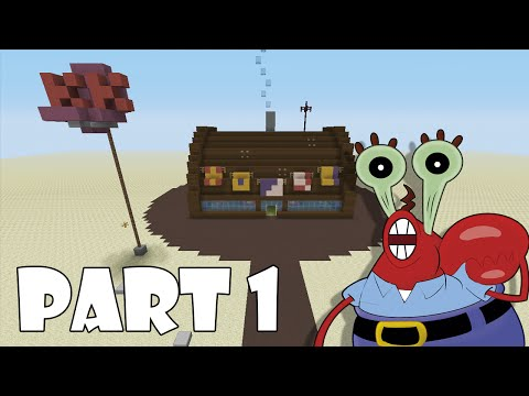 How To Build The Krusty Krab In Minecraft (PART 1)