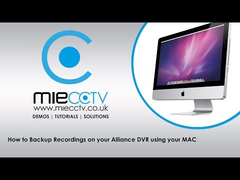 How to backup CCTV video footage from your Alliance & Hikvision DVR using your MAC