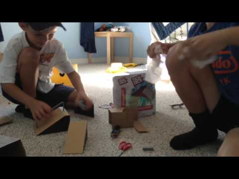Fingerboarding Tech Deck build-a-park with my brother!