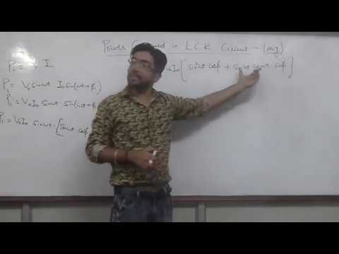 Power Consumed in LCR Circuit and Numericals  Lecture 4
