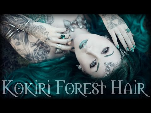 Kokiri Forest Hair (Black/Dark Green/Turquoise Ombre Tutorial) by Cira Las Vegas