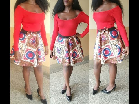 How To Make A Skater Skirt . No Sewing Machine