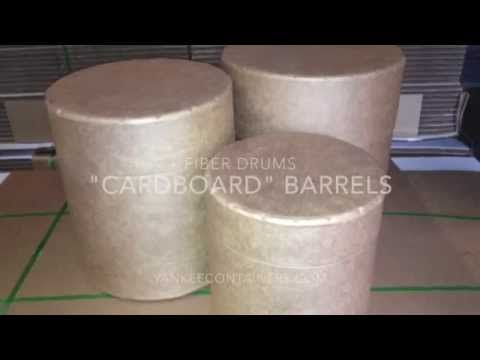 cardboard drums or barrels