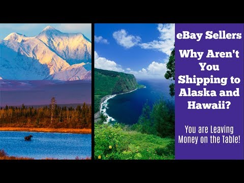 eBay Shipping to Hawaii and Alaska:  Don't Exclude these States!