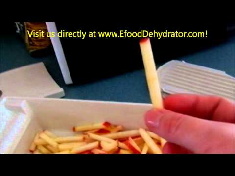 Dehydrated apple fries with my Excalibur food dehydrator- stephanie @ EfoodDehydrator.com!