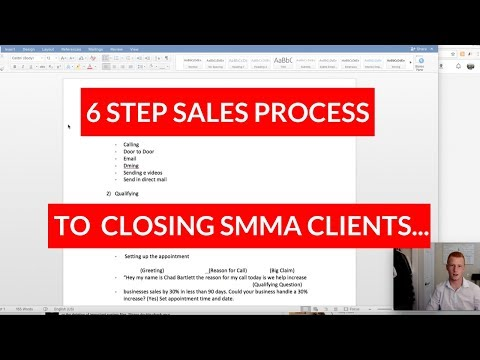 CLOSING SMMA CLIENTS - The 6 Step Sales Process To Follow!
