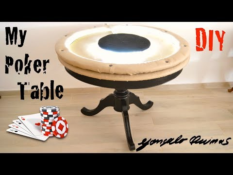 Poker table from old table!!! How I make
