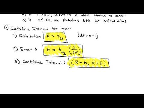 3.5 Confidence Interval for a Mean