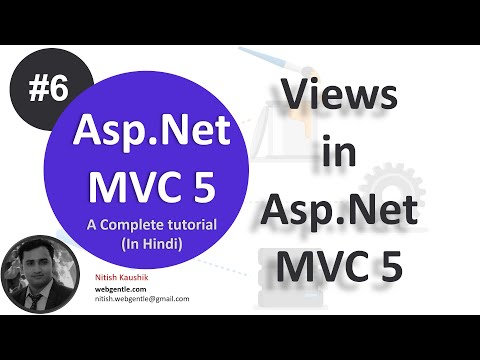 Part-6 | View in MVC 5 | Asp.Net MVC 5 Tutorial- Step by step in Hindi