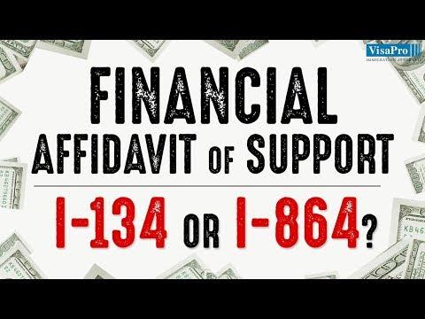 Financial Affidavit of Support: I-134 or I-864?