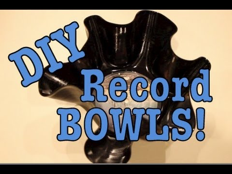DIY: Crafts out of RECORDS!: Bowls