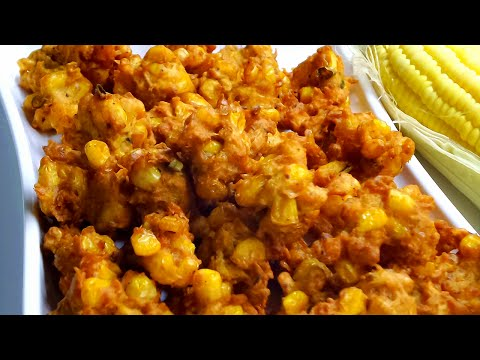 How to make CORN PAKODA | INDIAN CORN FRITTERS |  मकई के पकोड़े | VEGAN RECIPE | Monsoon Special Rec