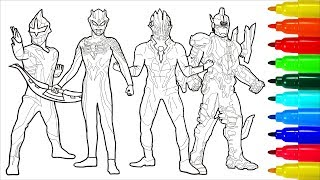 Ultraseven Dark Ultraman Dark Coloring Pages How To Color Ultraman