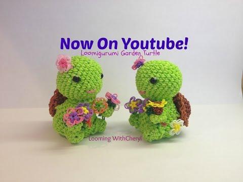 Rainbow Loom Garden Turtle - Loomigurumi - Amigurumi Hook Only Лумигуруми