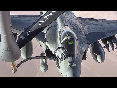 KC-135 Aerial Refueling French Fighters and E/A-18G Electronic-warfare Aircraft