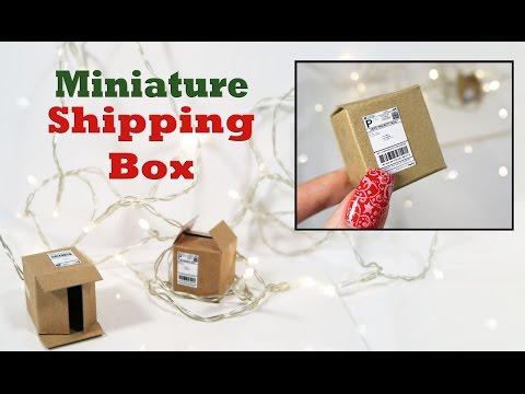 DIY- Make a Mini Shipping Box!