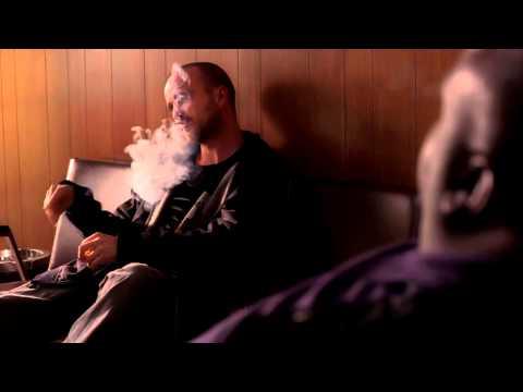 Breaking Bad: Jesse Pinkman Smoking Pot At Saul's S05E09