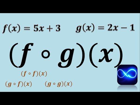 Composición de funciones (Método fácil) (Ejemplo 1)