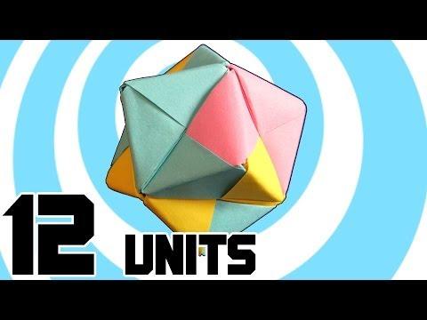 Modular Origami Stellated Octahedron 12 Sonobe Units