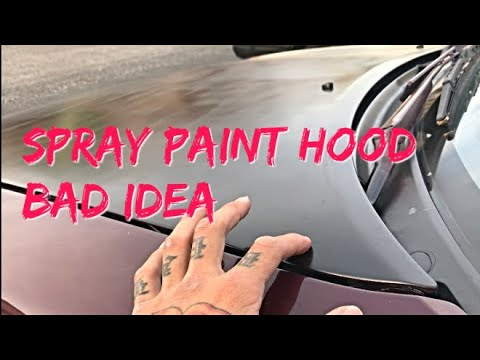 Don't spray paint Car with cans
