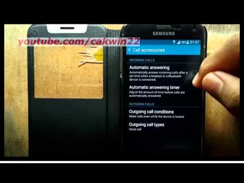 Samsung Galaxy S5 : How to enable or disable Automatic answering (Android Phone)