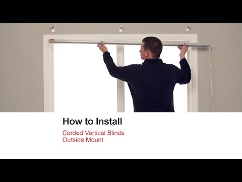 Bali Blinds | How to Install Corded Vertical Blinds - Outside Mount