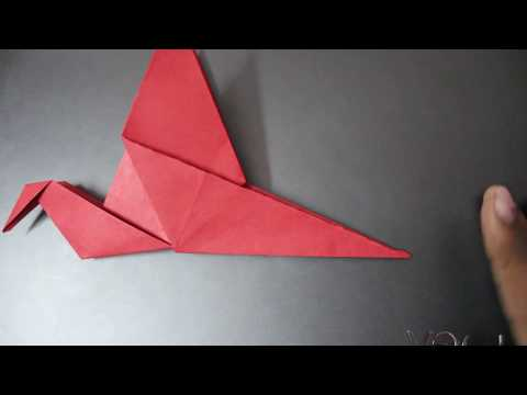 how to make origami bird that flaps its wings...