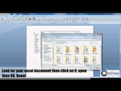 How to convert Excel to Word Document
