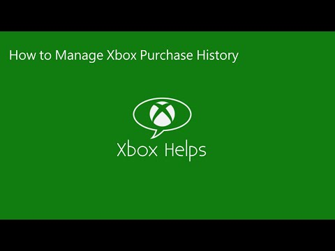 Xbox Helps - How to Manage your Xbox Purchase History