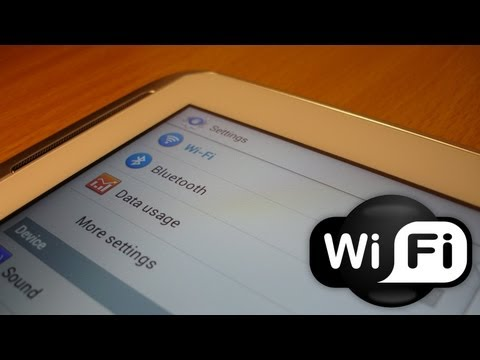 How to set up WiFi / Internet Connection on Galaxy Note 10.1