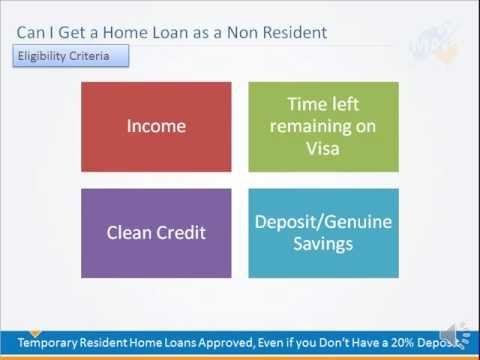 Can I get a Home Loan in Australia as a Non Resident