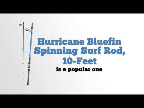 Hurricane Bluefin Spinning Surf Rod, 10 Feet 1 0