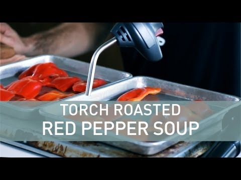 Torch-Roasted Red Pepper Soup