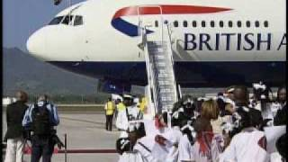 Arrival of Her Majesty The Queen Elizabeth II  Part 1.wmv
