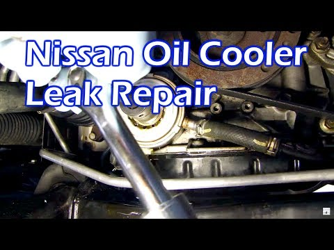 Nissan Oil Leak - Replace Oil Cooler O Ring Gasket - 3.5