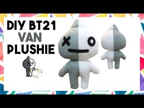 DIY BT21 VAN PLUSHIE! (FREE TEMPLATE) [CREATIVE WEDNESDAY]