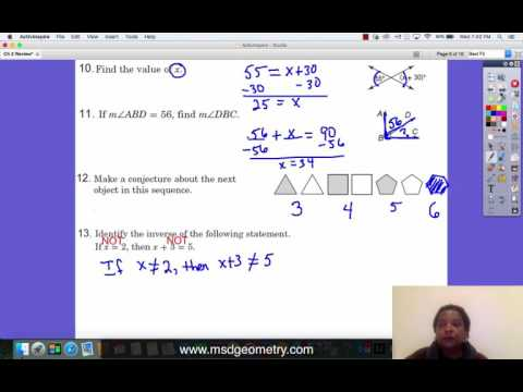 Review Ch 2 Reasoning & Proof