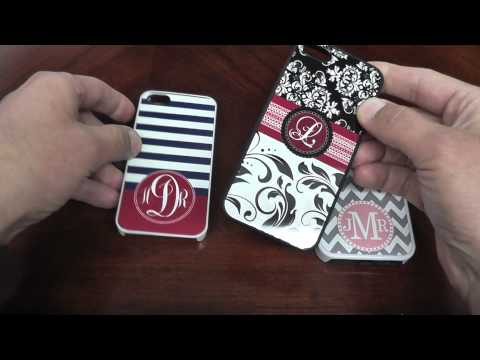 Create It Your Way Personalized Monogram iPhone Cases Comparisons