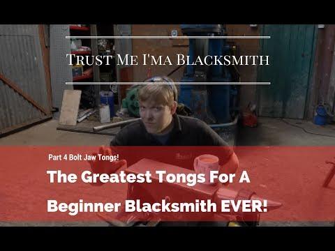 The Greatest Tongs For a Beginner Blacksmith EVER! Part 4 Bolt Tongs! Trust Me I'ma Blacksmith